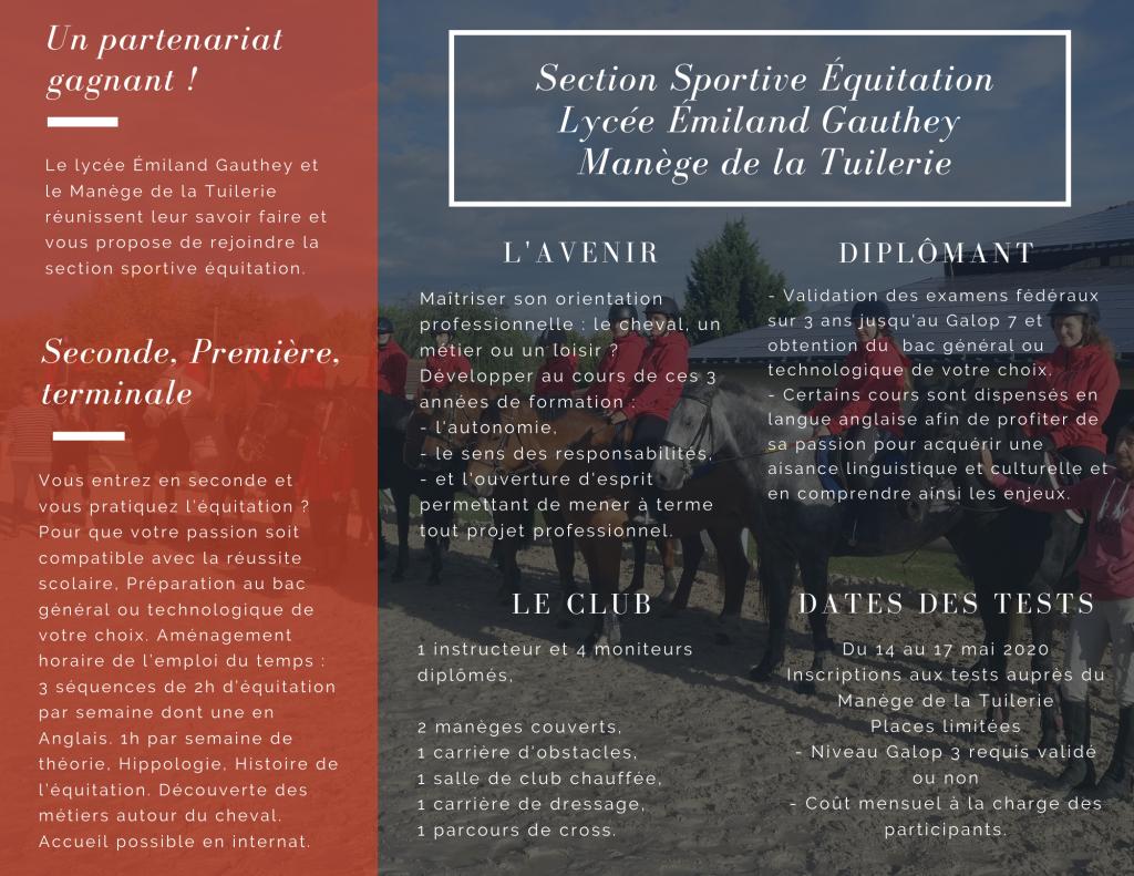 section équitation chalon sur saone